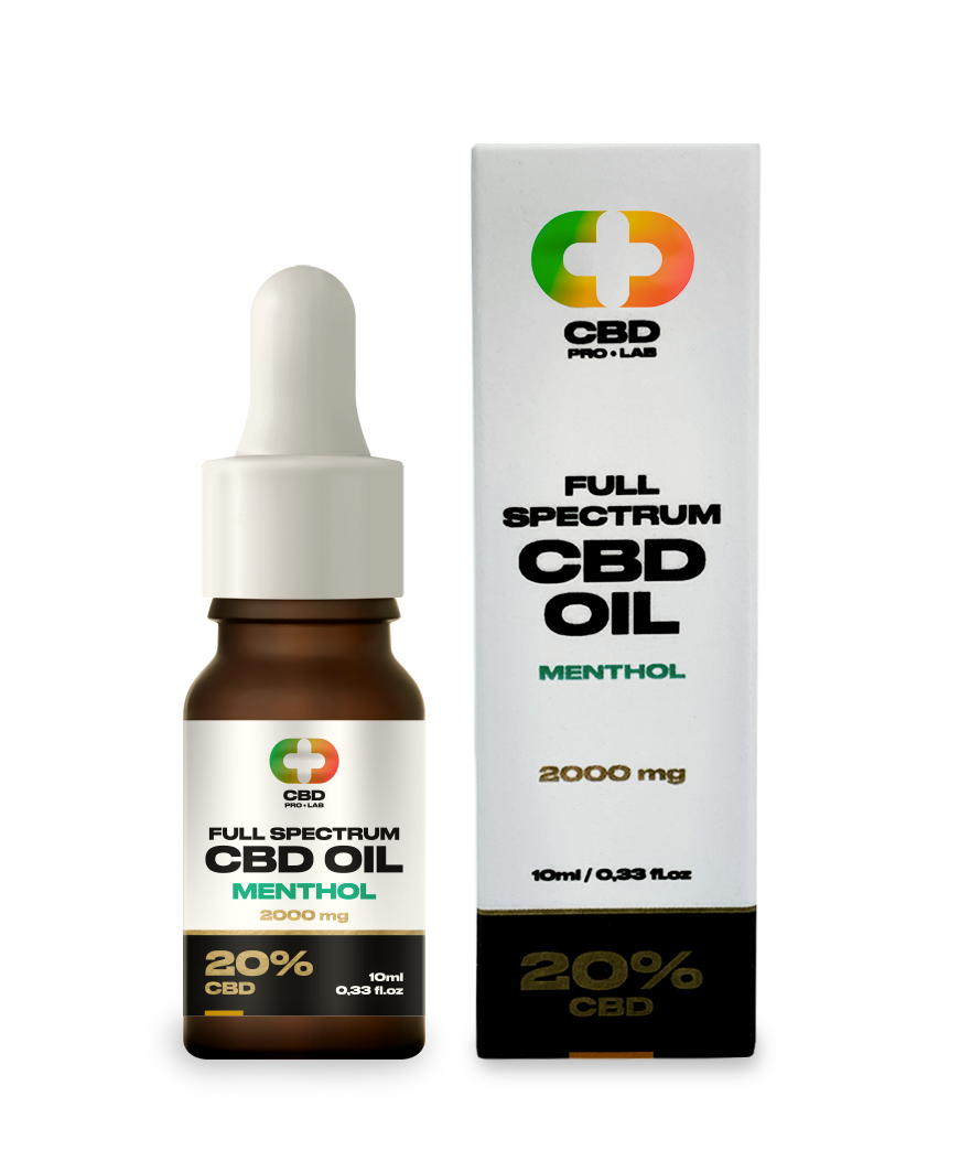 Aceite de CBD de 20% (2000mg) 10 ml con sabor a mentol