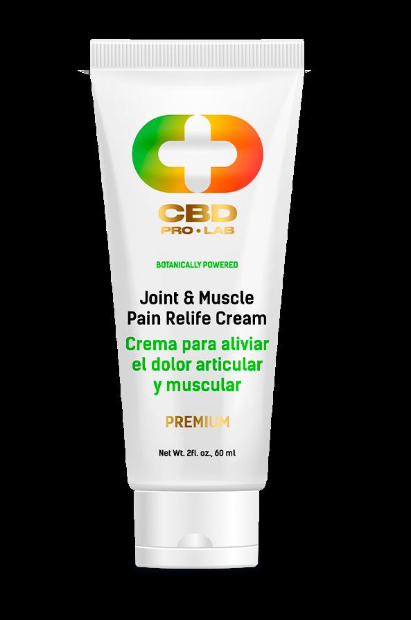 Crema de CBD para aliviar el dolor articular y muscular