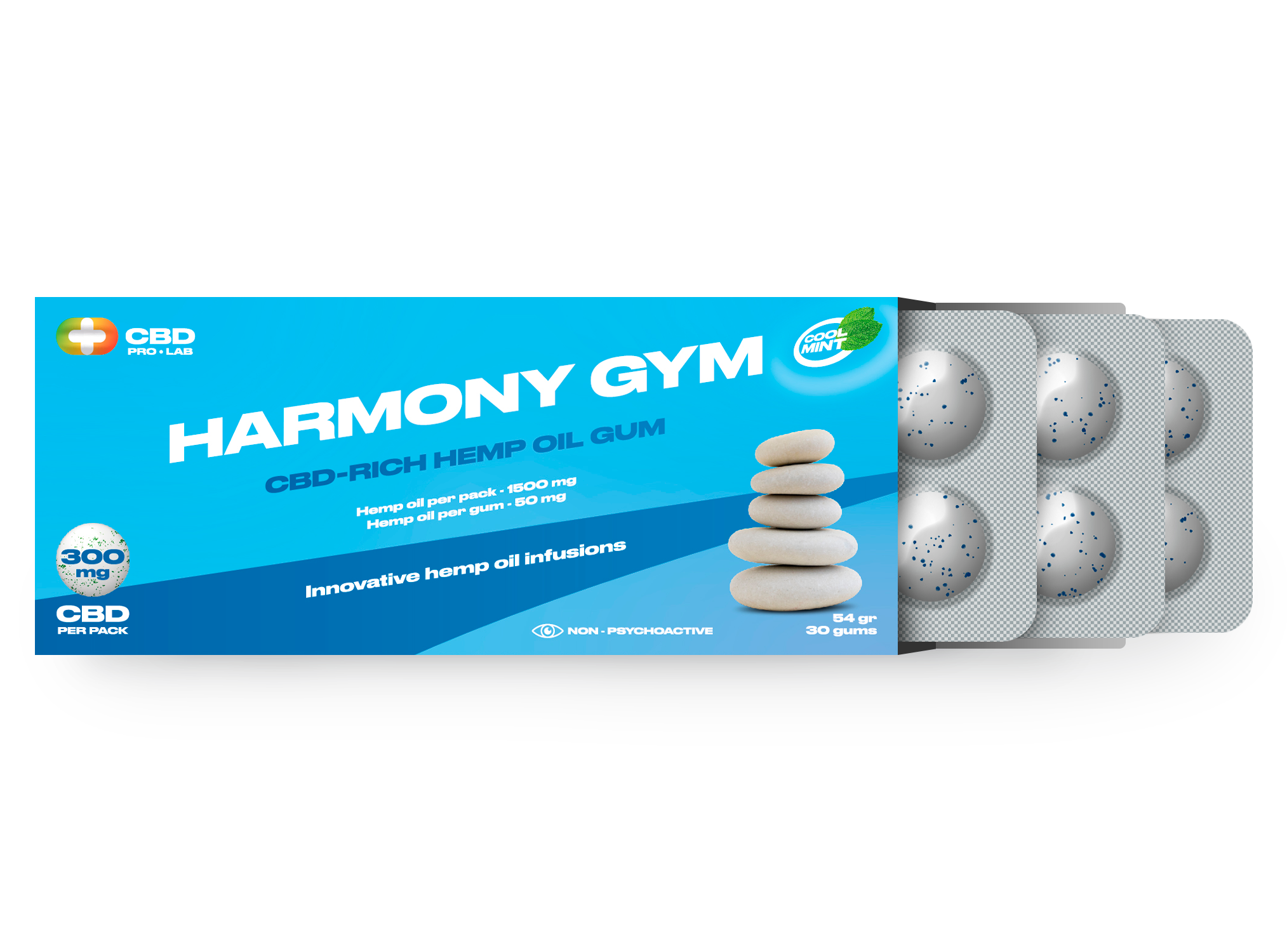 Chicles de CBD Harmony Gym 30 und