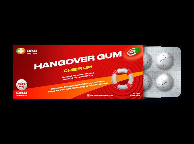 Chicles de CBD Hangover Gum Cheer Up 10 und