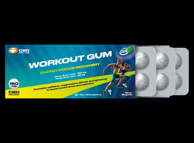 Chicles de CBD Workout Gum 30 und