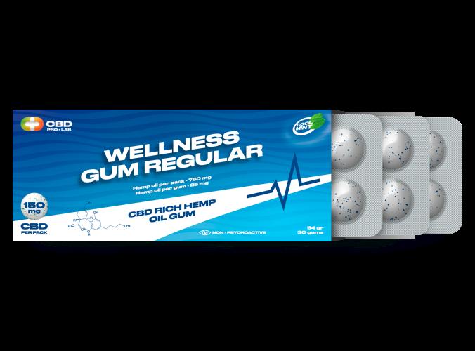 Chicles de CBD Wellness regular 30 und