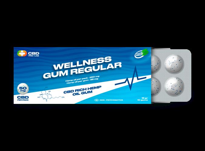 Chicles de CBD Wellness regular 10 und